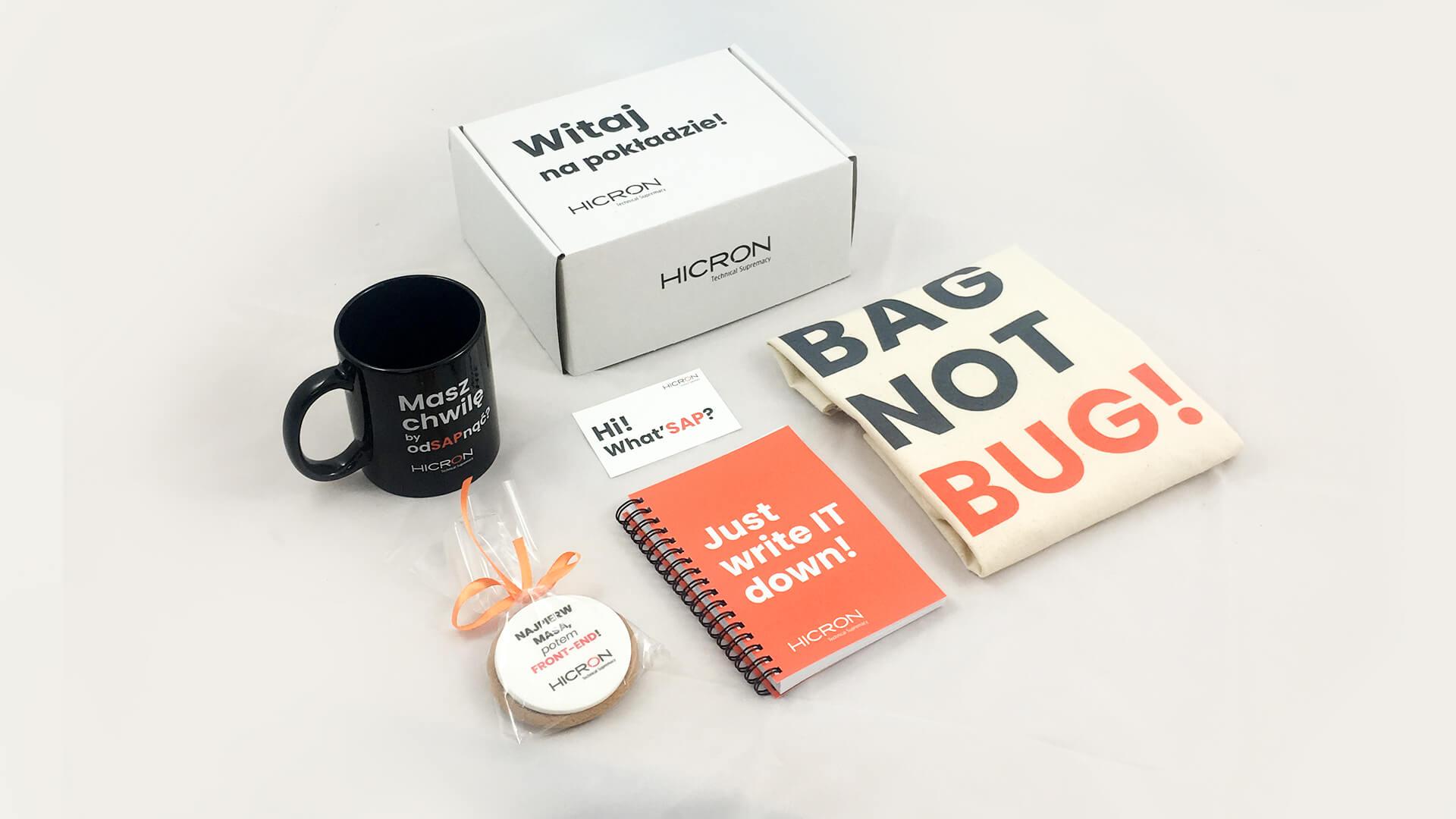 Hicron - welcome pack - zestaw powitalny dla pracowników Ale Smaki